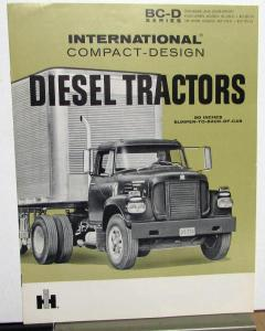 1960 International IHC Truck Model BC 225 BCF 195 Diesel Tractors Sales Brochure