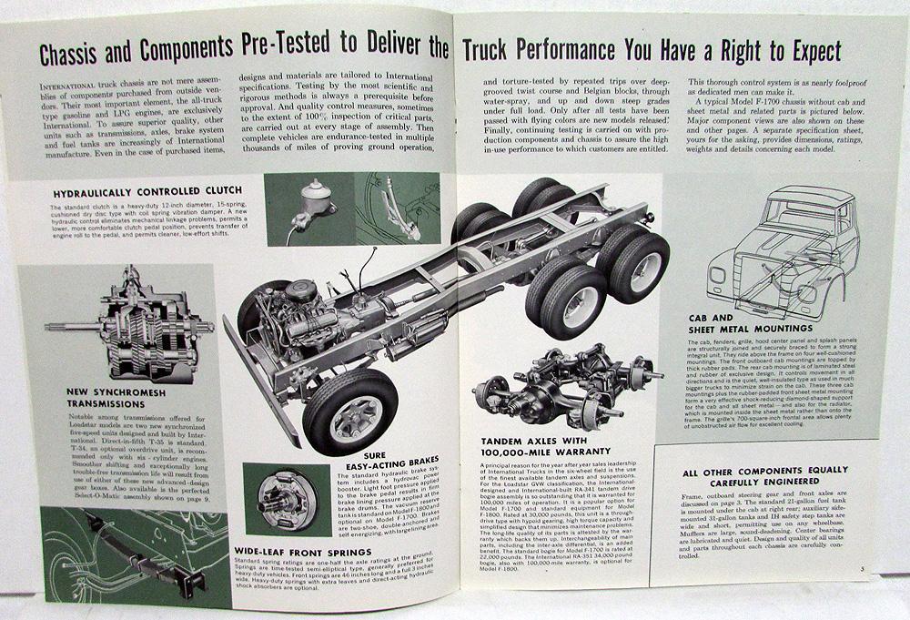 1962 International Harvester Loadstar Model F 1700 1800