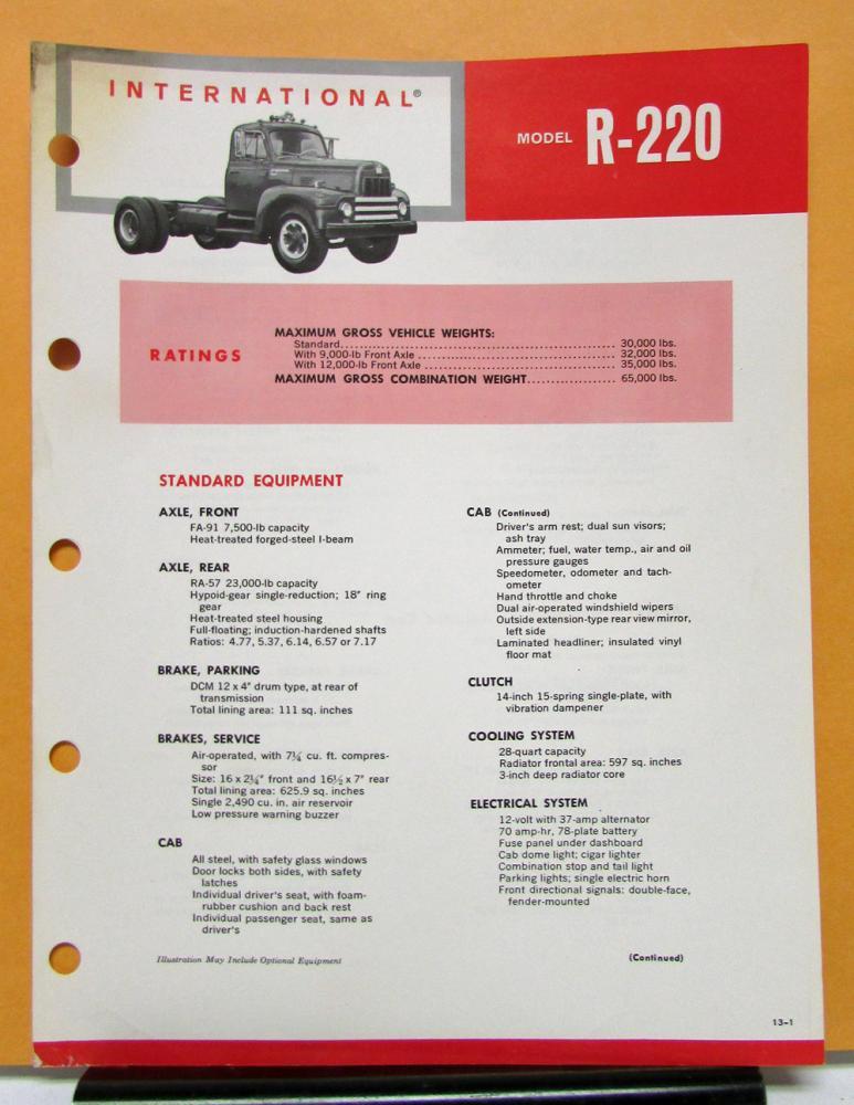 1964 1965 1966 International Harvester Truck Model R 220
