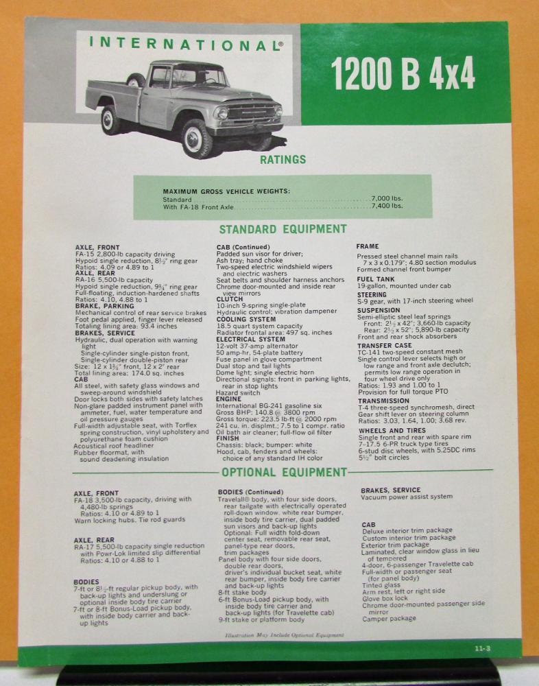 1967 International Harvester Truck Model 1200 B 4x4
