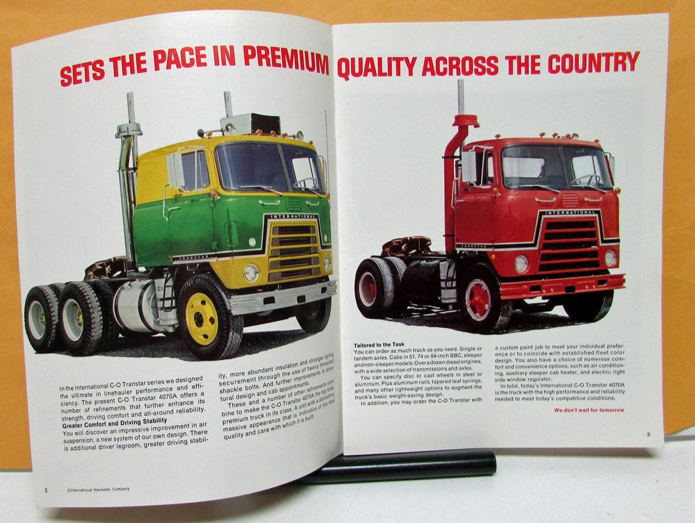 1972 International Harvester Transtar Truck Model C O 4070A Sales