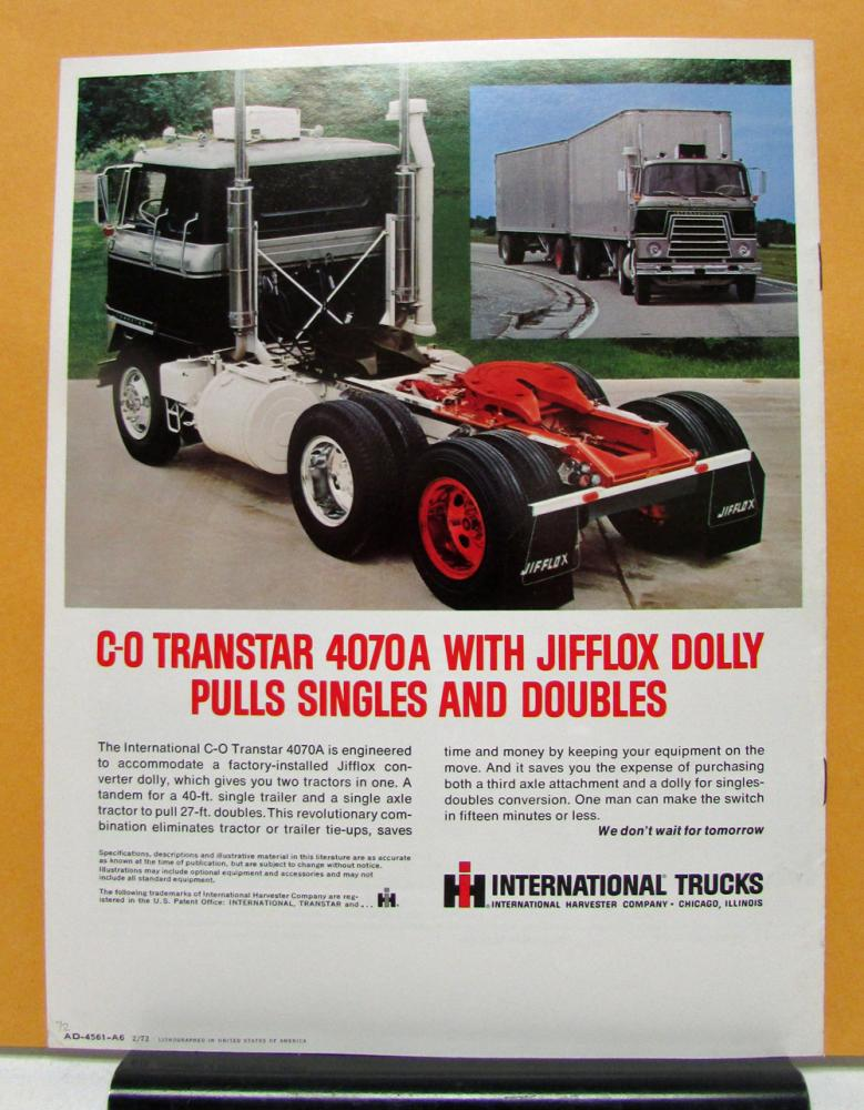 1972 International Harvester Transtar Truck Model C O ...
