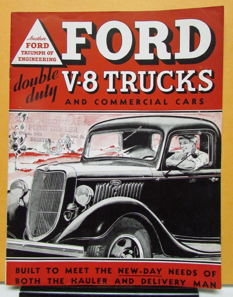 1935  FORD TRUCK OWNER/'S MANUAL V8 /& 4 CYLINDER