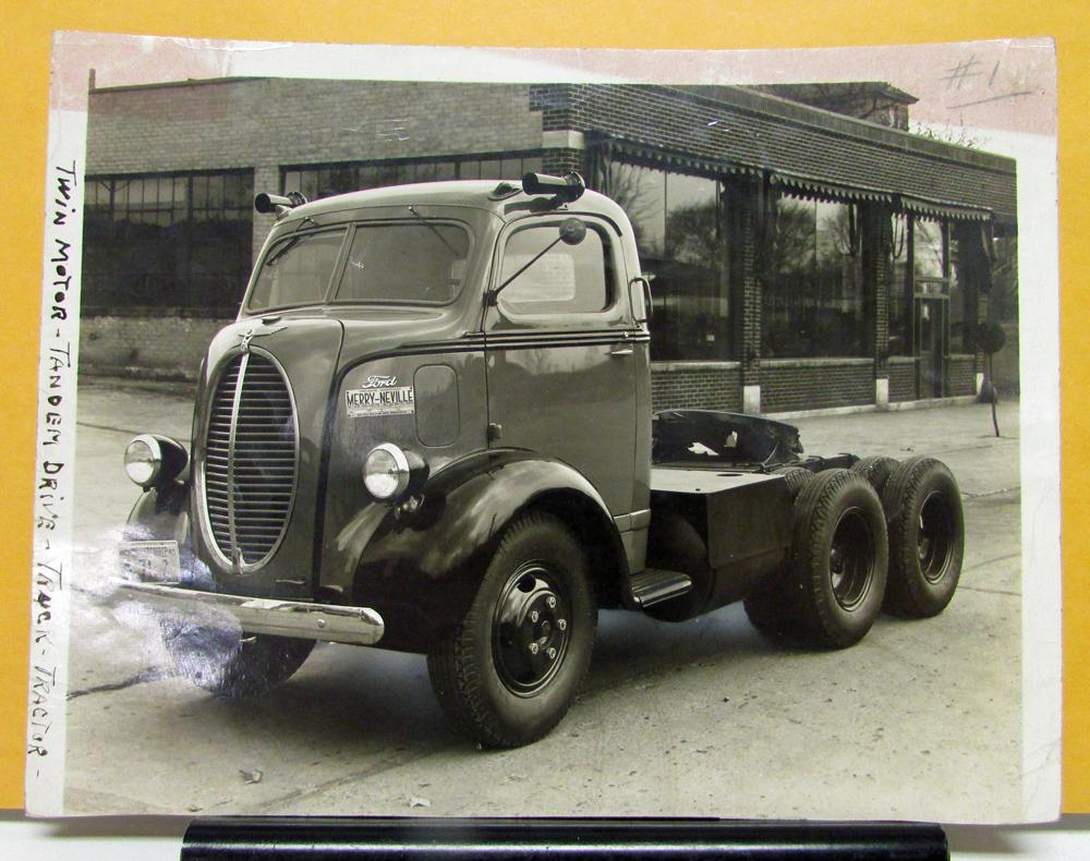 1938 1939 Ford Truck V8 Coe Photos With Merry Neville Brochure 1949