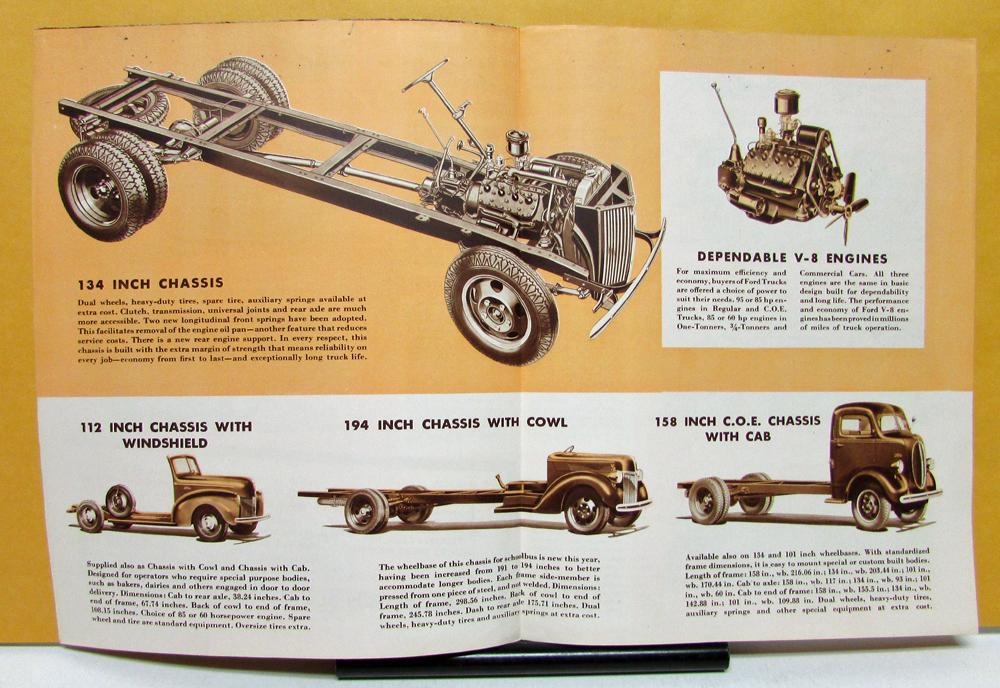 1940 Ford Truck Model V8 & Commercial Cars Sales Folder and