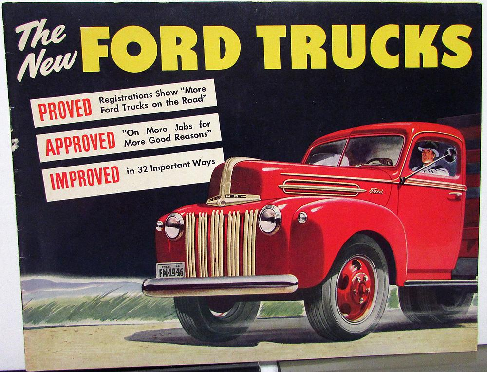 1946 Ford Truck One Ton Proved Approved Improved Sales Brochure