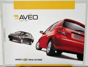2005 Chevrolet Aveo Canadian Sales Brochure Sedan Aveo5