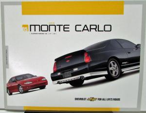 2005 Chevrolet Monte Carlo Canadian Sales Brochure Superchaged SS LT LS
