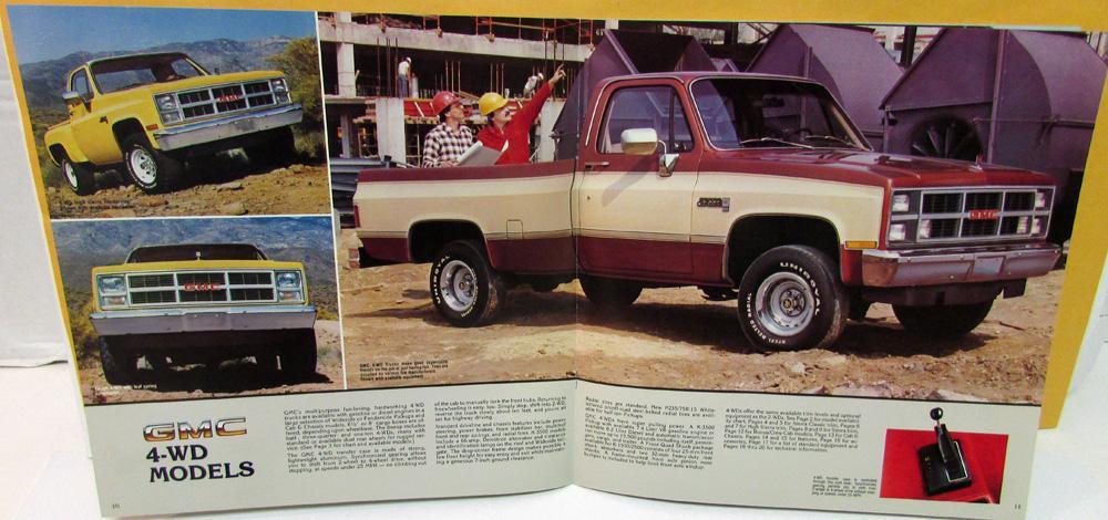1983 GMC Full-Size Pickup Truck Sales Brochure