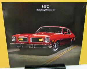 1974 Pontiac Dealer Sales Brochure Folder GTO 2 Door Coupe & Hatchback