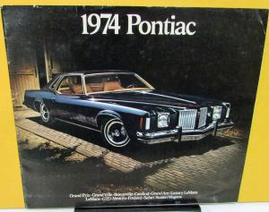 1974 Pontiac Dealer Sales Brochure Full Line Grand Prix Firebird GTO Grand Am