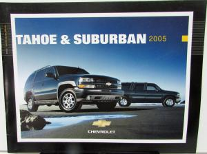 2005 Chevrolet Tahoe & Suburban Canadian Dealer Sales Brochure