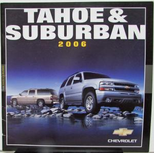 2006 Chevrolet Tahoe & Suburban Canadian Dealer Sales Brochure