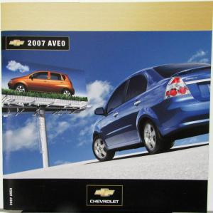 2007 Chevrolet Aveo Canadian Dealer Sales Brochure