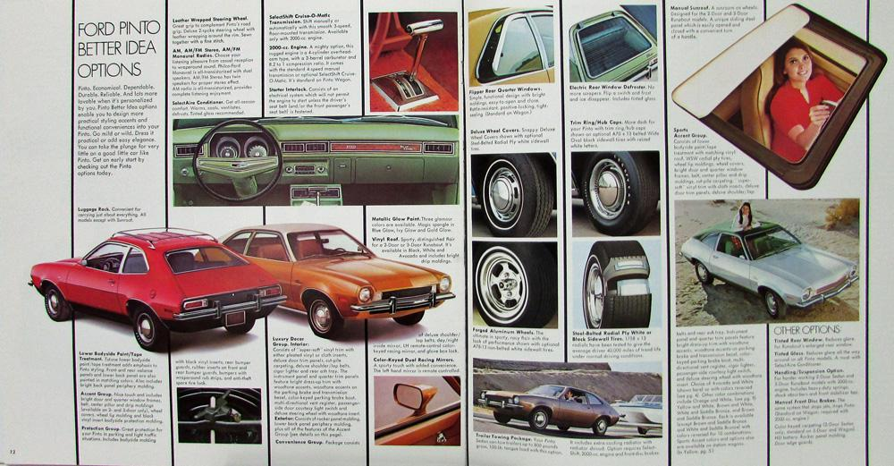 1973 Ford Pinto Sedan Runabout Wagon Squire Color Sales ...