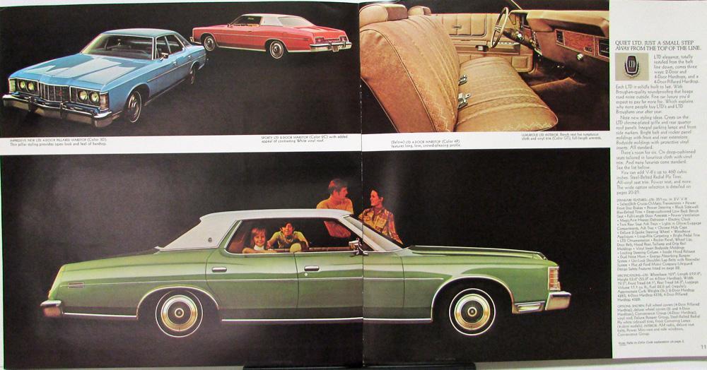 1973 Ford Ltd Amp Brougham Galaxie 500 Custom 500 Color