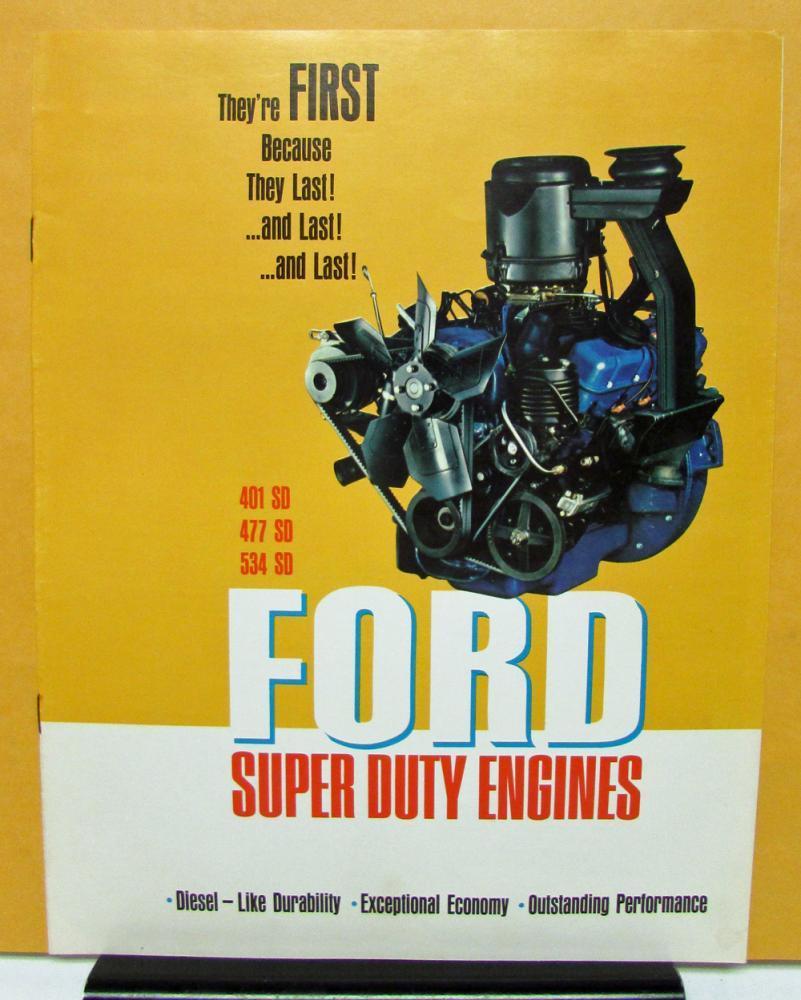 1967 Ford Truck Engine Models 401 477 534 Sales Brochure