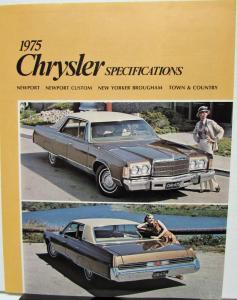 1975 Chrysler Canadian Spec Brochure Newport Custom New Yorker Town & Country