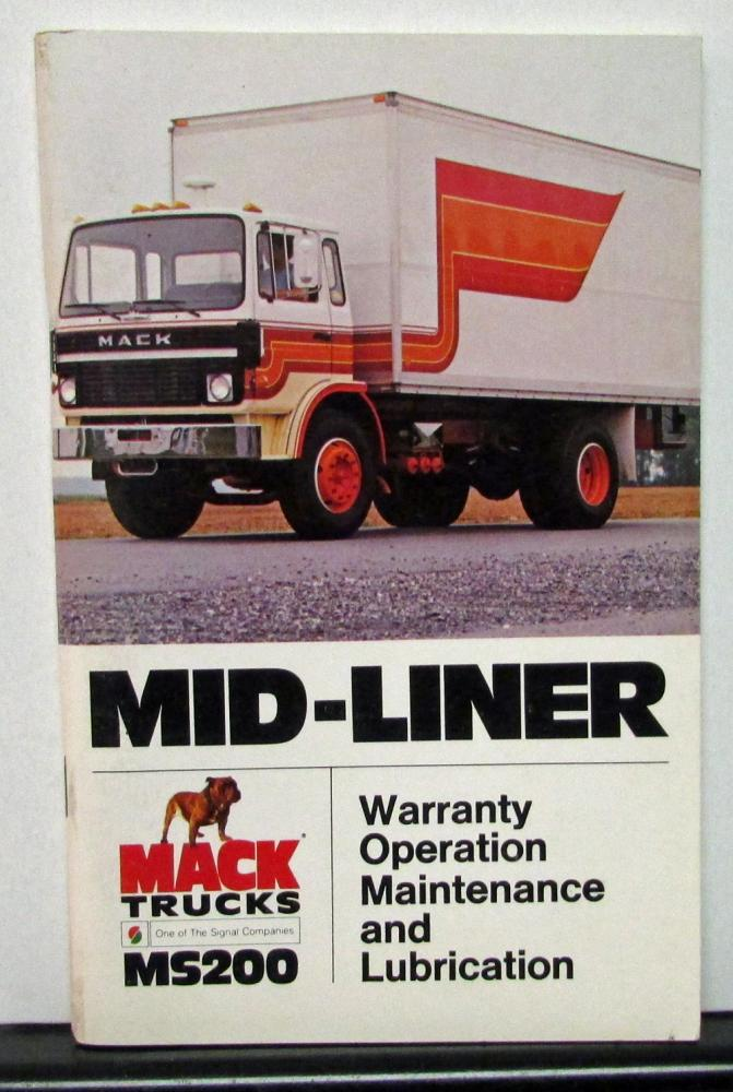 Mack 600 truck users Manual