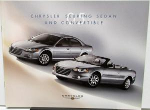 2005 Chrysler Sebring Sedan & Convertible Canadian Sales Brochure