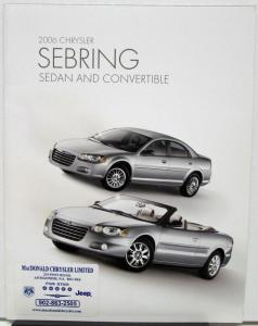 2006 Chrysler Sebring Sedan & Convertible Canadian Sales Brochure