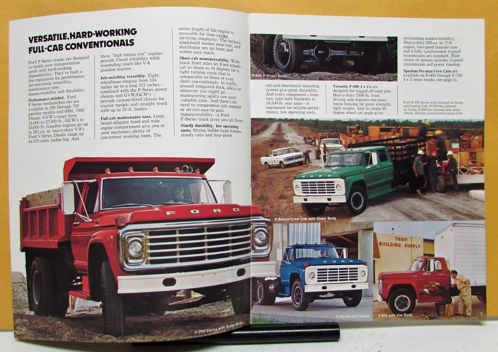 1974 Ford Trucks F Series 500 600 700 750 6000 7000 Brochure Specifications