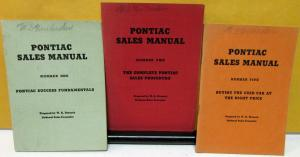 1936 Pontiac Dealer Sales Manual 3 Book Set #1, 2, 5 Salesmen Info Procedure