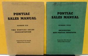 1936 Pontiac Dealer Sales Manual 2 Book Set #4 & 6 Salesmen Info Procedure