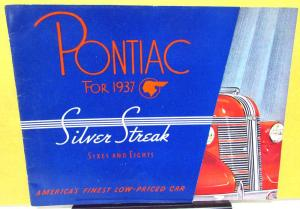 1937 Pontiac Dealer Sales Brochure Color Silver Streak Sixes & Eights Rare
