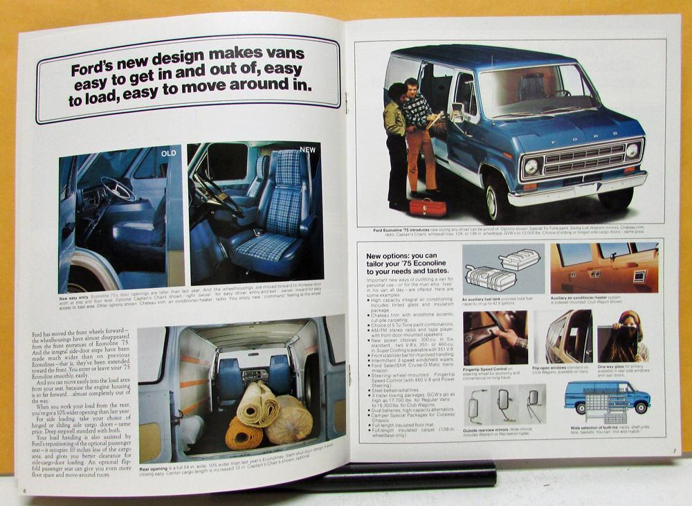 1975 Ford Econoline Club Wagon Van Truck Sales Brochure