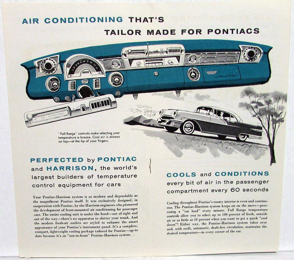 1956 Pontiac Dealer Sales Brochure Harrison Air Conditioning