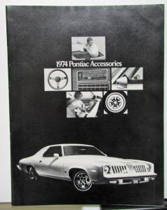 1974 Pontiac Dealer Sale Brochure Accessories Catalog Firebird Grand Prix LeMans