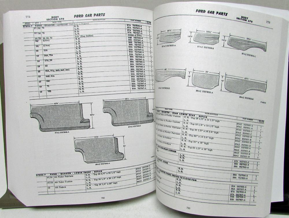1949-1951-1953-1956-1959 Ford Car Parts Book Manual ... - photo#50