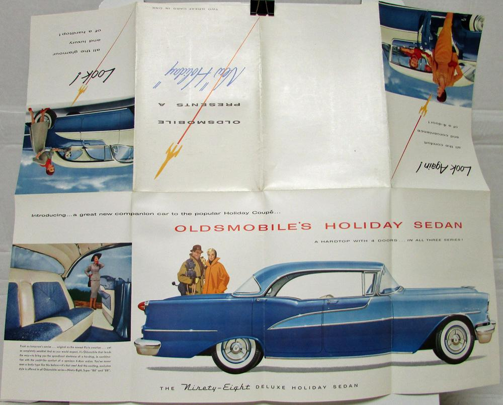 1955 Oldsmobile Holiday 88 Super 88 & 98 Color Sales Folder