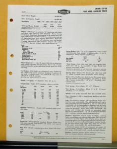 1958 1959 Autocar Truck Model C87 OH Specification Sheet