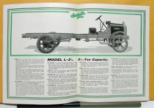 1925 Available Truck Model L 2 1/2 Sales Brochure & Specifications