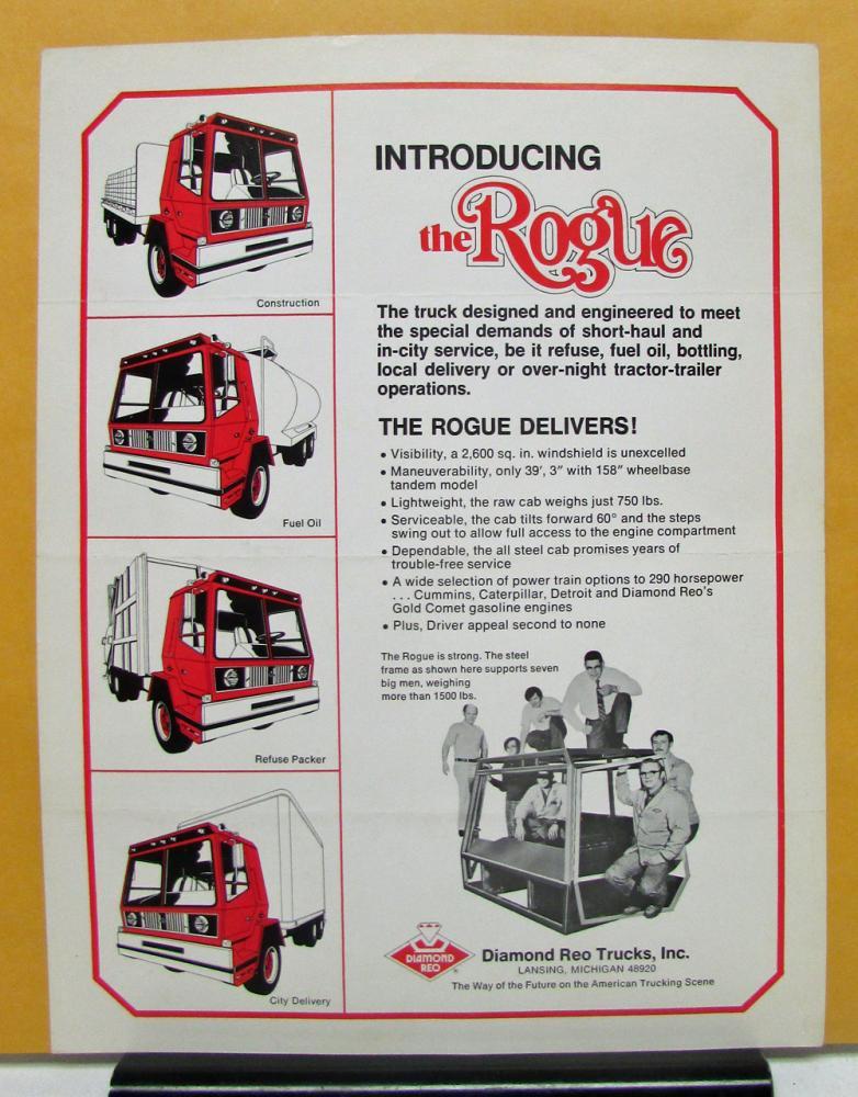 1974 Diamond REO Truck Model Rogue Sales Brochure