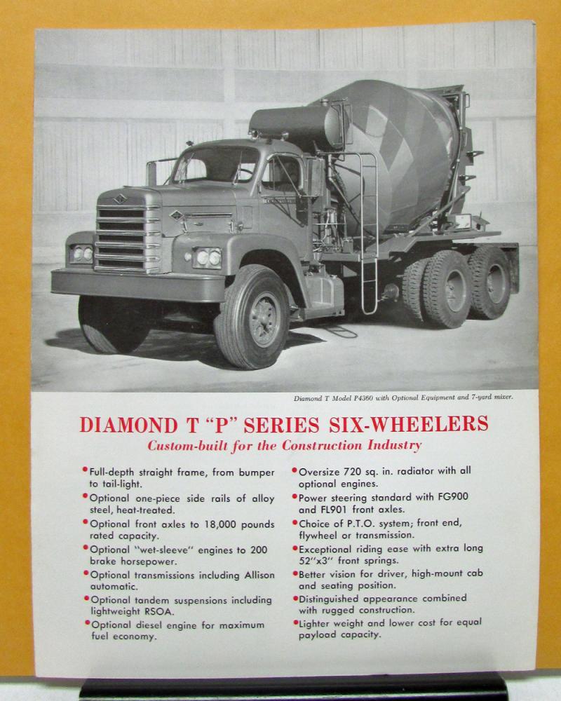 Diamond Auto Sales >> 1964 Diamond T Truck Model P4360 P5360 Sales Folder and Specifications