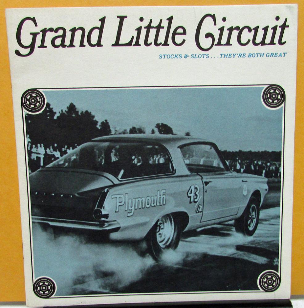 1964 Plymouth Dealer Sales Brochure Stock Car & Slot Car