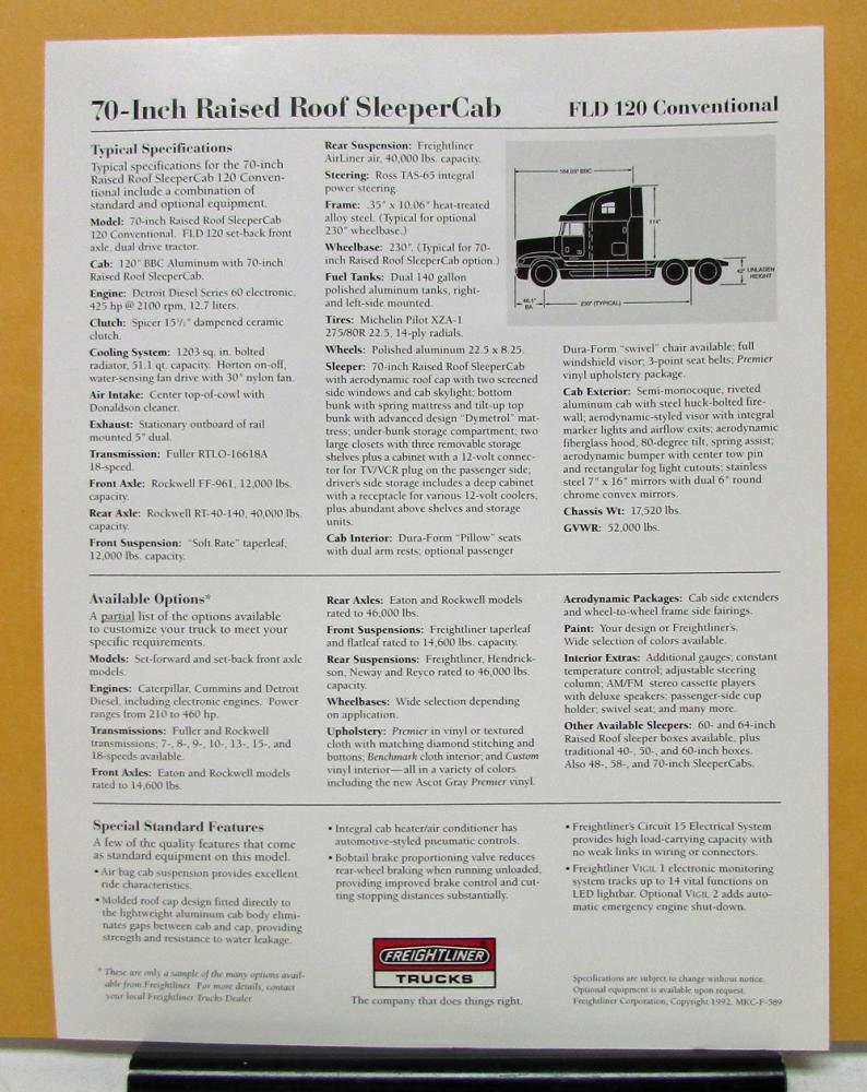 img7387_46071 1992 freightliner truck model fld120 70 inch sleeper cab