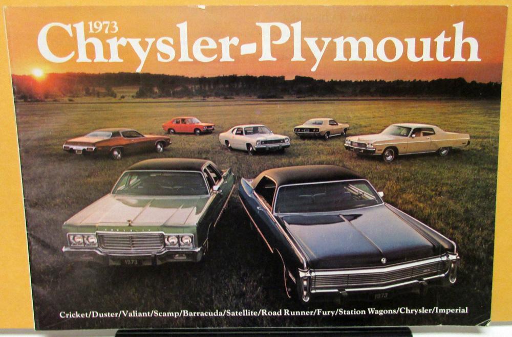 1973 Chrysler Plymouth Duster Cuda Road Runner Full Line ...