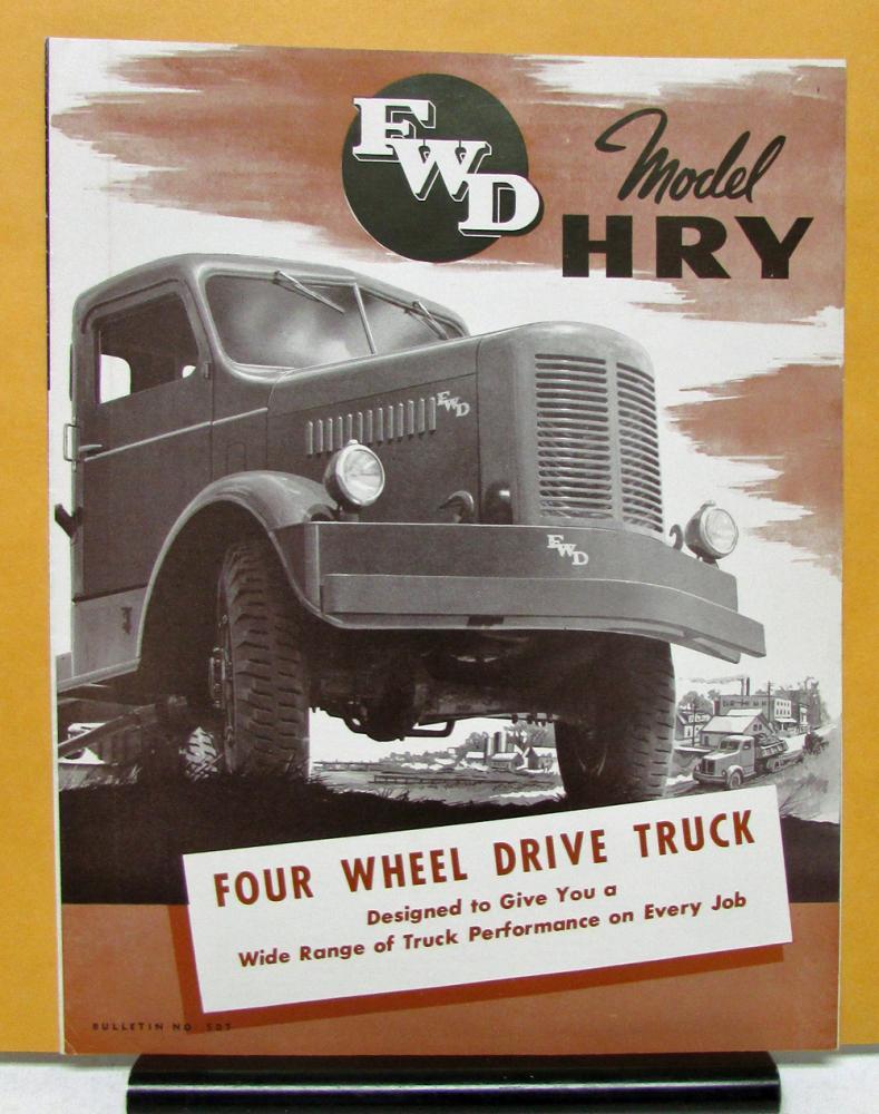 1950 FWD Truck Model HRY Four Wheel Drive Sales Brochure ...