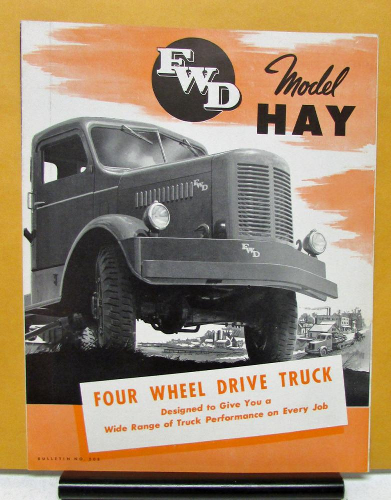 1950 fwd truck model hay four wheel drive sales brochure specifications. Black Bedroom Furniture Sets. Home Design Ideas