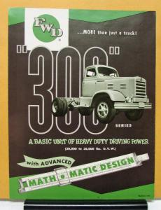 1954 FWD Truck Series 300 Sales Folder Mailer & Specifications