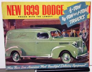 1939 Dodge Half Three Quarter One Ton Trucks TC & TD Series Specs Sale Brochure