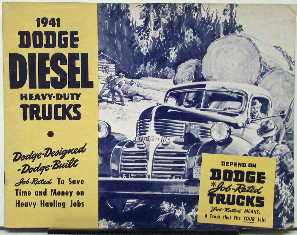 1941 Dodge Diesel Heavy Duty Trucks WKD WDKA Series Sales Brochure Original