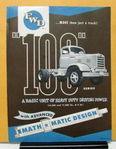 1954 1955 1956 FWD Truck Series 100 Sales Folder Mailer & Specifications