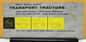 1959 FWD Truck Model T TS 47 647 Transport Tractors Sales Brochure