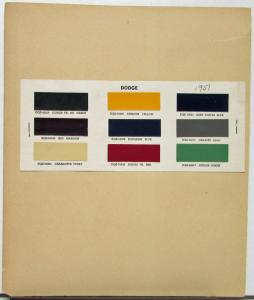 1951 Dodge Color Paint Chips Original