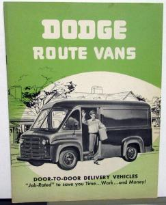 1951 Dodge Truck EU & DU Models Route Vans Delivery Vehicles Sales Brochure Orig